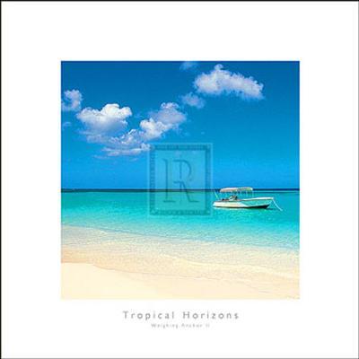 Tropical Horizons II- Adam Brock-Art Print