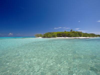 Tropical Island and Lagoon, Baa Atoll, Maldives, Indian Ocean-Sakis Papadopoulos-Photographic Print