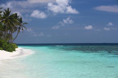 Tropical Island and Lagoon, Maldives, Indian Ocean, Asia-Sakis Papadopoulos-Photographic Print