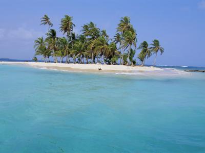 Tropical Island, Iles Los Grillos, Rio Sidra, San Blas Archipelago, Panama, Central America-Bruno Morandi-Photographic Print