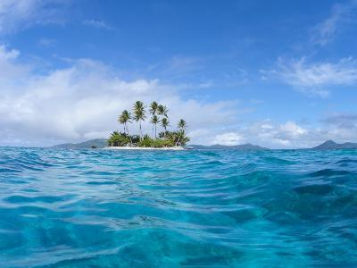 Tropical island, Micronesia--Photographic Print