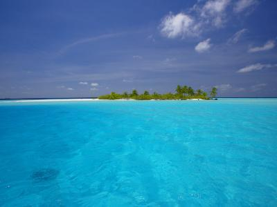 Tropical Island Surrounded by Lagoon, Maldives, Indian Ocean-Papadopoulos Sakis-Photographic Print