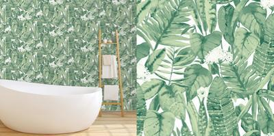 Tropical Jungle Green Self-Adhesive Wallpaper