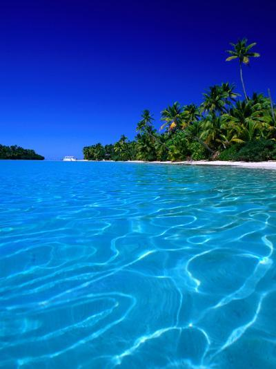 Tropical Lagoon Waters, Aitutaki, Southern Group, Cook Islands-Peter Hendrie-Photographic Print