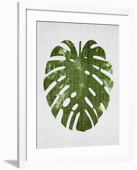 Tropical Leaf 1-LILA X LOLA-Framed Art Print