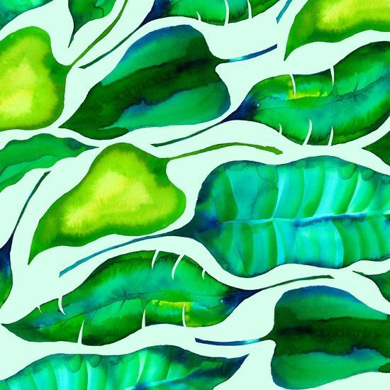Tropical leaves, 2018-Andrew Watson-Giclee Print