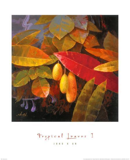 Tropical Leaves I-June K^ An-Art Print