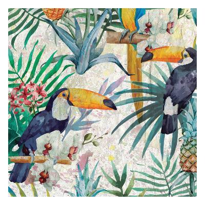 Tropical Life 1-Kimberly Allen-Art Print