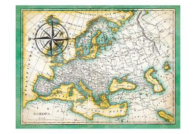 Tropical Map-Jace Grey-Art Print