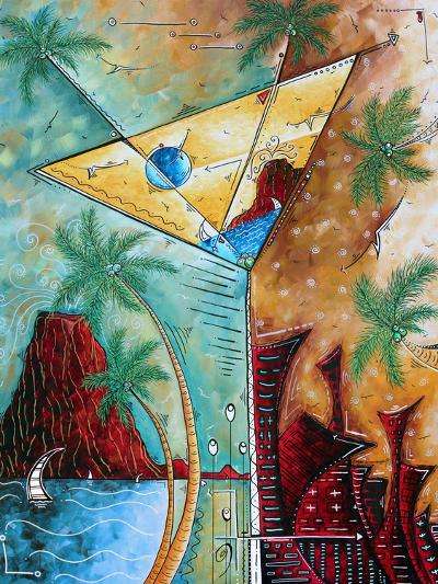 Tropical Martini Glass Cityscape PoP Art-Megan Aroon Duncanson-Art Print