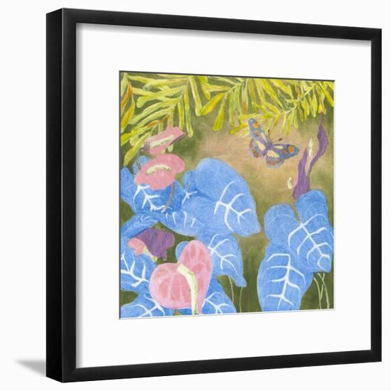 Tropical Monotype VI-Carolyn Roth-Framed Art Print