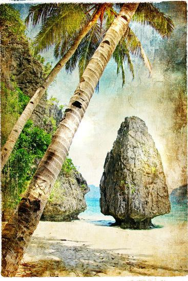 Tropical Nature - Artwork In Painting Style-Maugli-l-Art Print