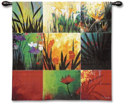 Tropical Nine Patch-Don Li-Leger-Wall Tapestry