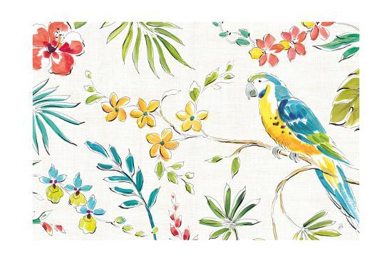 Tropical Oasis II White-Daphne Brissonnet-Art Print
