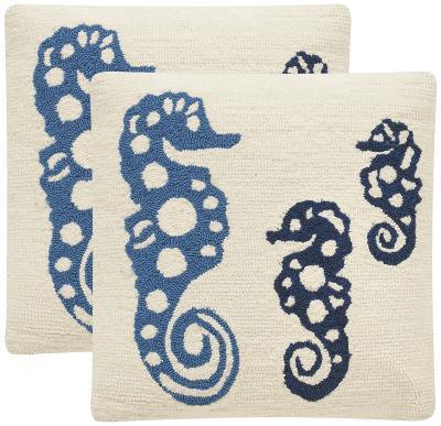 Tropical Oreas Pillow Pair - Marine Blue--Home Accessories