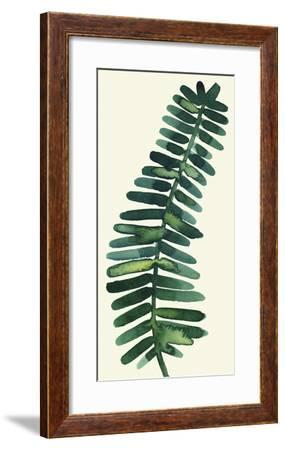 Tropical Palm Leaf II-Kim Johnson-Framed Art Print