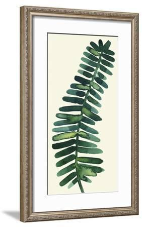 Tropical Palm Leaf II-Kim Johnson-Framed Art Print