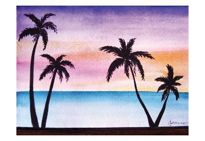 Tropical Palms 2-Debbie Pearson-Art Print