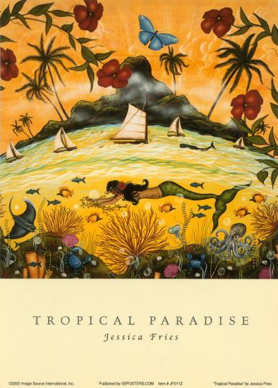 Tropical Paradise-Jessica Fries-Art Print