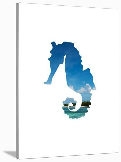 Tropical Seahorse-Jetty Printables-Stretched Canvas Print