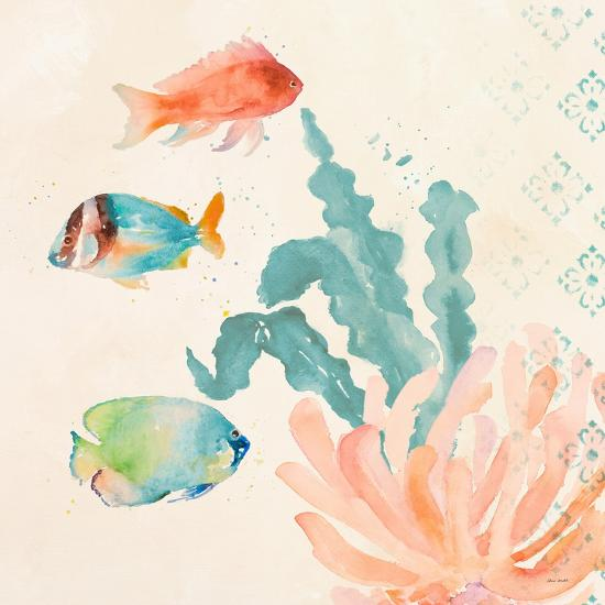 Tropical Teal Coral Medley I-Lanie Loreth-Art Print