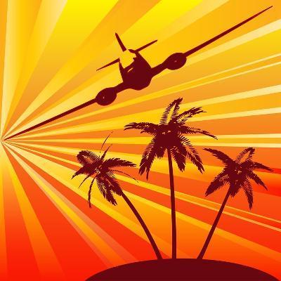 Tropical Travel-Petrafler-Art Print