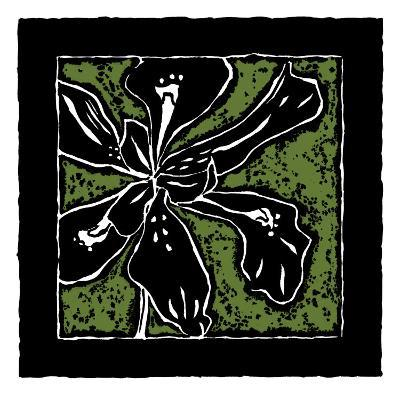 Tropical Woodblock III-Chariklia Zarris-Art Print