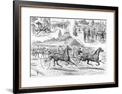 Trotting Races at Alexandra Park, London, 1890--Framed Giclee Print