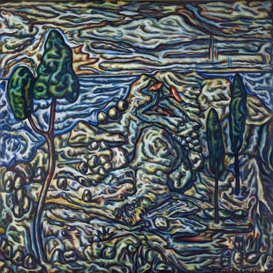 Troubled Landscape, 1994--Giclee Print