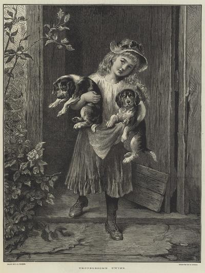 Troublesome Twins-George Augustus Holmes-Giclee Print