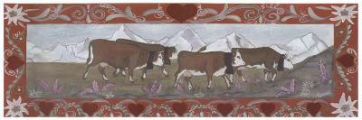 Troupeau de Vaches En Ete-Nathalie Renzacci-Art Print