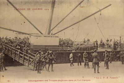 Troupes Anglaises, Port Francais, C.P.A Nouvelle--Giclee Print