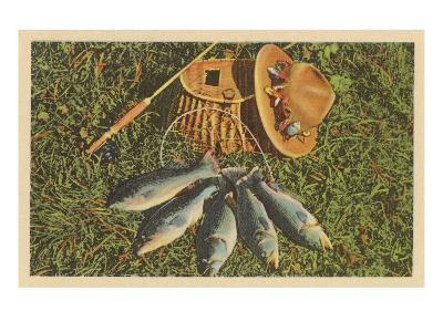 Trout by Creel--Art Print