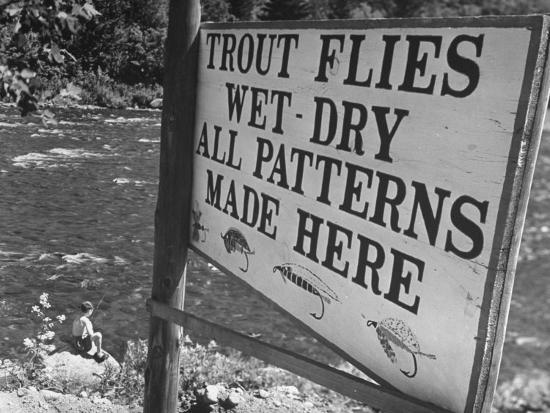 Trout: Wet - Dry All Patterns Made Here Between North Creek and North River, Hudson River Valley-Margaret Bourke-White-Photographic Print