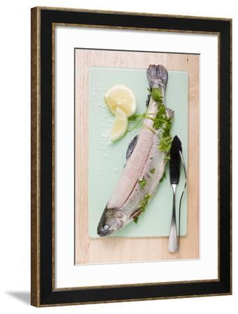 Trout with Parsley, Lemon Wedges and Salt-Foodcollection-Framed Photographic Print