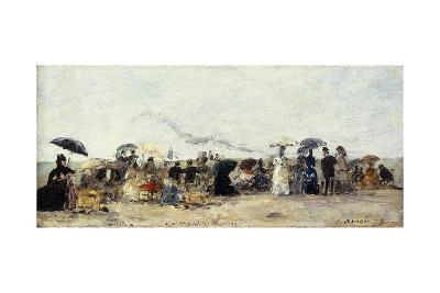 Trouville, Beach Scene; Trouville Scene De Plage, 1879-Eug?ne Boudin-Giclee Print