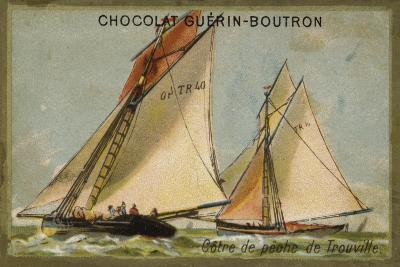 Trouville Fishing Cutter--Giclee Print