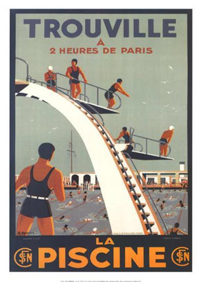 Trouville, La Piscine-Molusson-Art Print