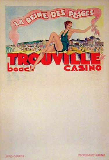 Trouville La Reine Des Plages (c.1933)--Collectable Print