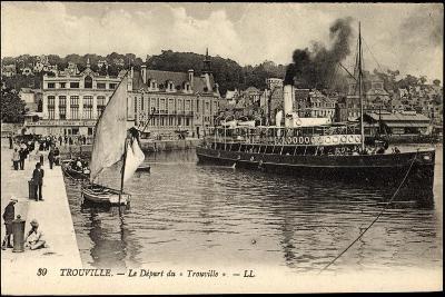 Trouville Seine Maritime, D?part Du Trouville, Havre--Giclee Print
