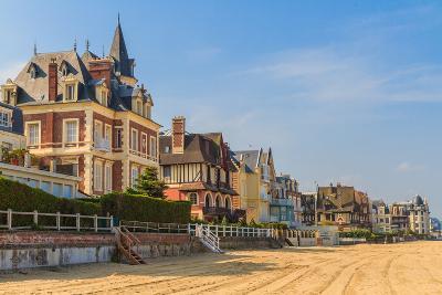 Trouville Sur Mer Beach Promenade, Normandy, France-Zechal-Photographic Print