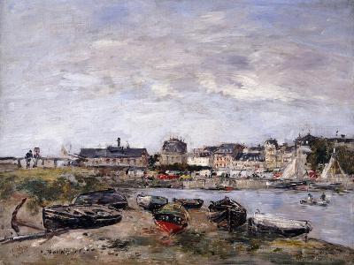 Trouville: View Toward Deauville on Market Day; Trouville: Vue Prise De Deauville, Un Jour De…-Eug?ne Boudin-Giclee Print