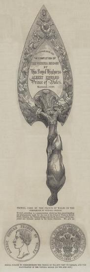 Trowel Used by the Prince of Wales in the Completion of Victoria Bridge--Giclee Print