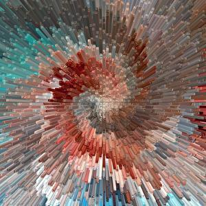 Burst. Abstract Blue Textured Background. Illustration. by troyka