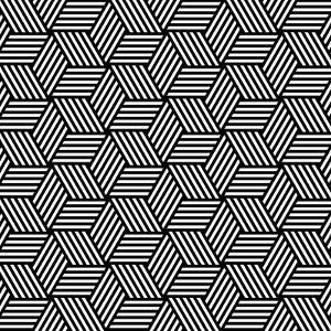 Seamless Geometric Pattern In Op Art Design by troyka