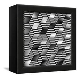 Seamless Geometric Pattern In Op Art Design by troyka