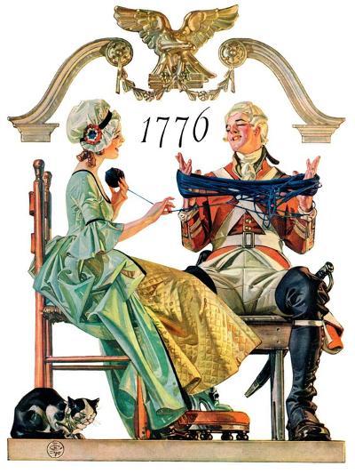 """Truce,""July 4, 1931-Joseph Christian Leyendecker-Giclee Print"