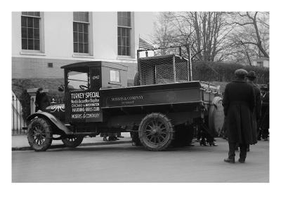 Truck Marked as the Turkey Special Delivers a Turkey to the White House for Thanksgiving--Art Print