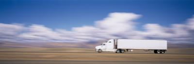 Truck on the Road, Interstate 70, Green River, Utah, USA--Photographic Print