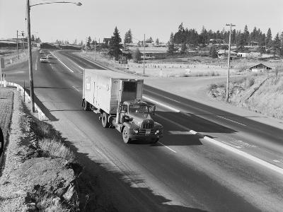 Truck Transporting Delivery to Safeway-Ray Krantz-Photographic Print